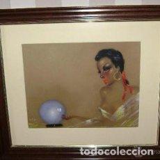 Varios objetos de Arte: FEDERICO RIBAS - CUADRO PASTEL ORIGINAL FIRMADO. Lote 116960847