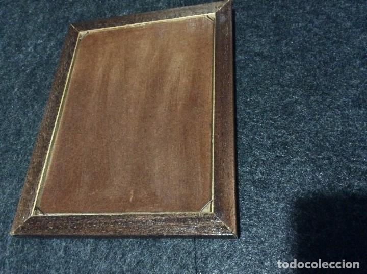 cuadro con marco de madera, con grabado de co - Comprar en ...