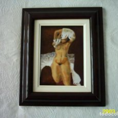 Varios objetos de Arte: ESMALTE AL FUEGO. FIRMA ILEGIBLE. MEDIDAS CON MARCO: 29 X 24 CM.. Lote 117344903