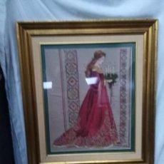 Varios objetos de Arte: TAPIZ ANTIGUO DE PETIT PONIT, ANTIGUO, ENMARCADO, GRANDE. Lote 117479175