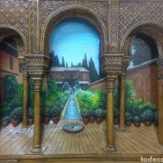 Varios objetos de Arte: RELIEVE GENERALIFE DE GRANADA DE MADERA. Lote 117641122