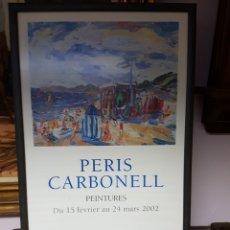 Varios objetos de Arte: PERIS CARBONELL, CARTEL EXPOSICIÓN, MUSEE PAUL - VALERY - SETE, ENMARCADO.. Lote 117753974