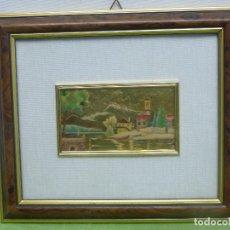 Varios objetos de Arte: CUADRO BAÑADO EN ORO CREAZIONI ARTISTICHE SERIE ORO VINTAGE CHROMOLITHOGRAPHS WALL ART. Lote 118017995
