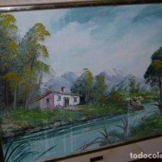 Varios objetos de Arte: CUADRO DE PINTURA SOBRE TABLILLA, FIRMADO. Lote 118375903