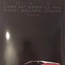 Varios objetos de Arte: EXCEPCIONAL COLECCION 3 CUADROS BMW M1 CAMP ART GRAPHICS 1983 SICHEL GALLERIE LONDON CAR SL. Lote 118685299