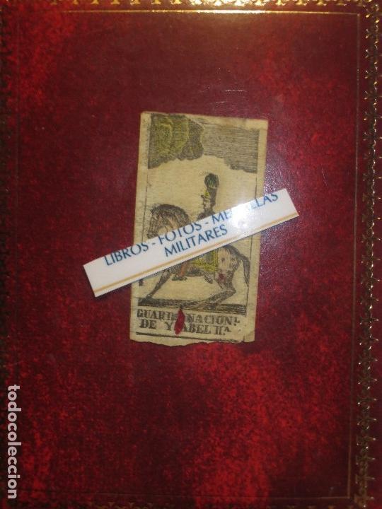 Varios objetos de Arte: GRABADO MILITAR GUARDIA NACIONAL A CABALLO DE ISABEL II CIRCA MEDIADOS SIGLO XIX - Foto 3 - 116180975