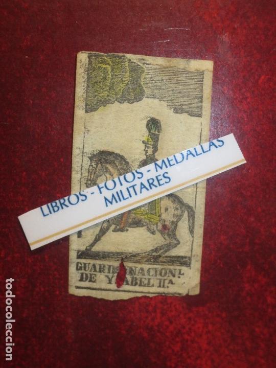 Varios objetos de Arte: GRABADO MILITAR GUARDIA NACIONAL A CABALLO DE ISABEL II CIRCA MEDIADOS SIGLO XIX - Foto 2 - 116180975