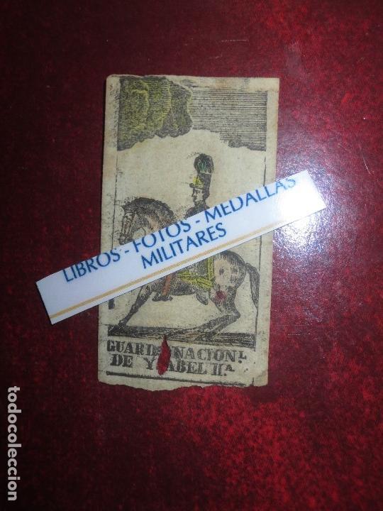 Varios objetos de Arte: GRABADO MILITAR GUARDIA NACIONAL A CABALLO DE ISABEL II CIRCA MEDIADOS SIGLO XIX - Foto 7 - 116180975