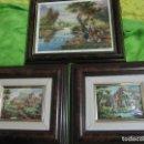 Varios objetos de Arte: CONJUNTO CUADROS VINTAGE EN TRES DIMENSIONES ESMALTE NURASKA YUDITH. Lote 119052019