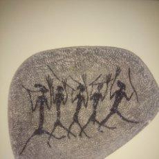 Varios objetos de Arte: PLATO DECORATIVO CON PINTURAS RUPESTRES. Lote 119371626