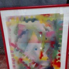 Varios objetos de Arte: ARTE ASTRACTO FIRMADO JAVIVI 1988. Lote 119416511