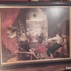 Varios objetos de Arte: LAS HILANDERAS / VELÁZQUEZ / REPRODUCCIÓN EN MARCO HOLANDÉS. Lote 119487159