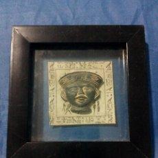 Varios objetos de Arte: CUADRITO CON CARA EGIPCIA DE BARRO O TERRACOTA. Lote 119582543