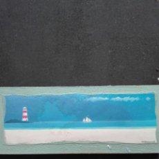 Varios objetos de Arte: PAISAJE MARINO CON FARO DE 25 X 10. Lote 119625863