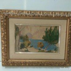Varios objetos de Arte: CUADRO: DIONISIO BAIXERAS - OLEO SOBRE LIENZO ORIGINAL: PAISAJE DE COSTA. Lote 119888564