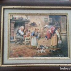 Varios objetos de Arte: ESMALTE SOBRE CHAPA CARLO PARISI. Lote 120346195