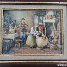 Varios objetos de Arte: ESMALTE SOBRE CHAPA VICENTE ROSO. Lote 120399119