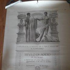 Varios objetos de Arte: TITULO EMPLEADOS ESCRITORIO BARCELONA SABINO BUESO FUNDADOR BURJASSOT LA SENYERA MODERNISTA LABARTA. Lote 122435922