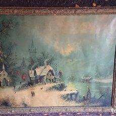 Varios objetos de Arte: IMPRESIÓN SOBRE LONA 1900. Lote 122986455