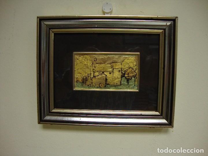 818 - CUADRO ORO 985 % CON CERTIFICACIÓN DE GARANTÍA HECHO A MANO MADE IN ITALY (Arte - Varios Objetos de Arte)
