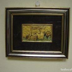 Varios objetos de Arte: 818 - CUADRO ORO 985 % CON CERTIFICACIÓN DE GARANTÍA HECHO A MANO MADE IN ITALY. Lote 123424411