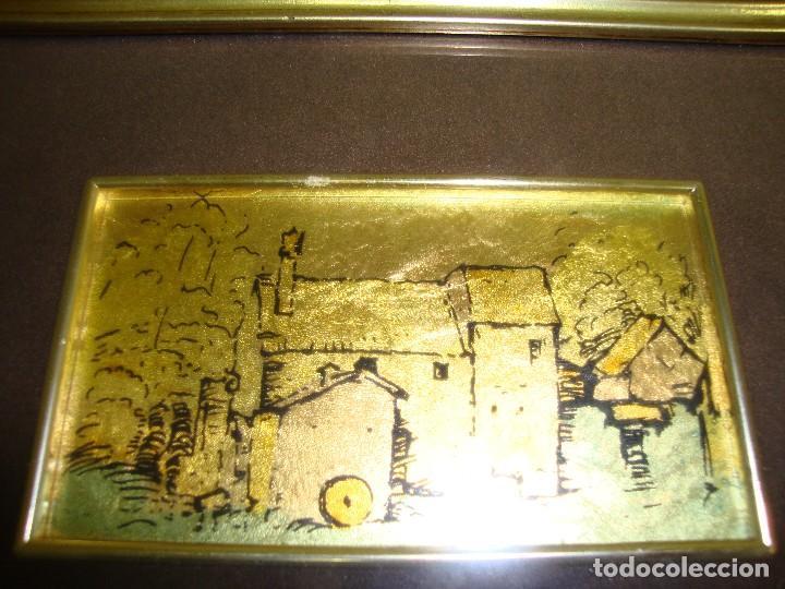 Varios objetos de Arte: 818 - CUADRO ORO 985 % CON CERTIFICACIÓN DE GARANTÍA HECHO A MANO MADE IN ITALY - Foto 2 - 123424411