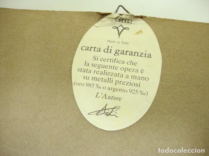 Varios objetos de Arte: 818 - CUADRO ORO 985 % CON CERTIFICACIÓN DE GARANTÍA HECHO A MANO MADE IN ITALY - Foto 4 - 123424411