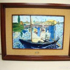 Varios objetos de Arte: 818- PRECIOSO CUADRO DE MANET EN METAL MUY PESADO GRAN TAMAÑO VER DESCRIPCION. Lote 123508459