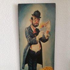 Varios objetos de Arte: PRECIOSA PAREJA DE CUADROS DE PAYASO FIRMADOS POR CLINT BRADLEY. Lote 123742771