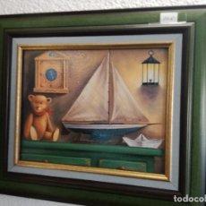 Varios objetos de Arte: BONITO CUADRO JUVENIL INFANTIL. Lote 123745291