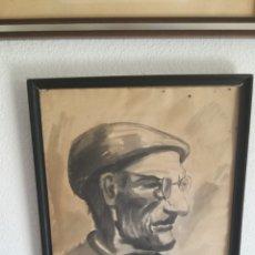 Varios objetos de Arte: PINTOR PACIOS LUGO GRABADO Y ORIGINAL. Lote 124439534