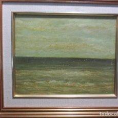 Varios objetos de Arte: INTERESANTE Y ANTIGUO OLEO DE MALAGA FIRMADO EN REVERSO PAISAJE EN LIENZO SOBRE CARTON. Lote 125182571