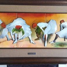 Varios objetos de Arte: PRECIOSO CUADRO DE DEGAS DE ESMALTES NEGRONI. Lote 125397424