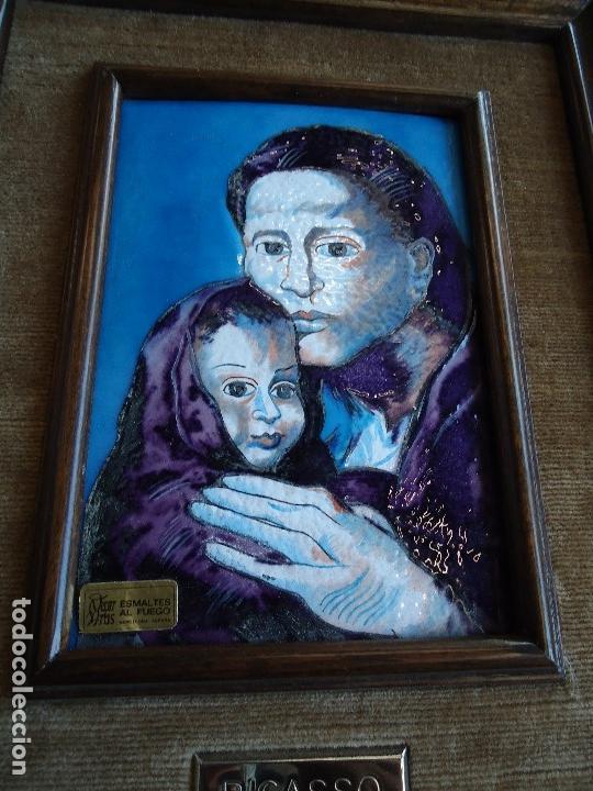 ESMALTE RELIGIOSO AL FUEGO PABLO PICASSO - MATERNIDAD - (Arte - Varios Objetos de Arte)