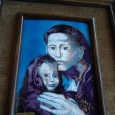Varios objetos de Arte: ESMALTE RELIGIOSO AL FUEGO PABLO PICASSO - MATERNIDAD -. Lote 126294851