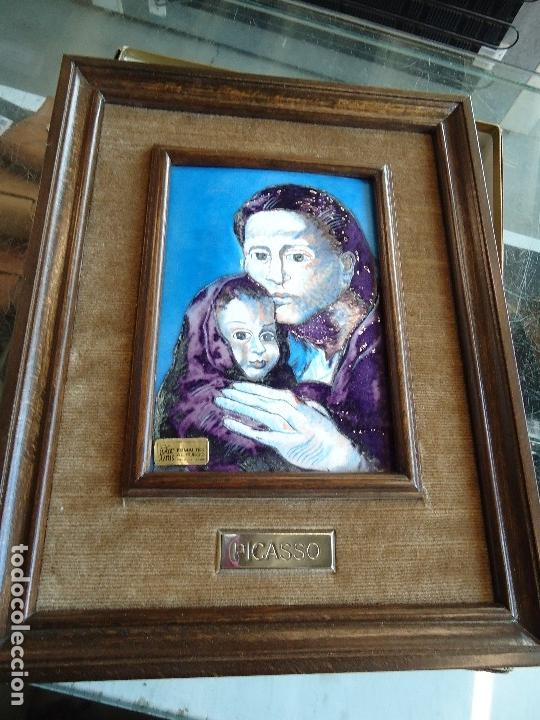Varios objetos de Arte: Esmalte religioso al fuego pablo picasso - maternidad - - Foto 3 - 126294851