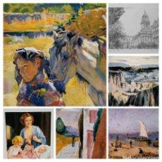 Varios objetos de Arte: LOTE DE 1 GICLÉE, 1 ESTAMPACIÓN, 4 LÁMINAS.. Lote 89715948
