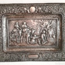 Varios objetos de Arte: ANTIGUO BAJORELIEVE DON QUIJOTE ALPACA.. Lote 126727764