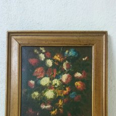 Varios objetos de Arte: LÁMINA DE FLORES ENMARCADA. Lote 126964632