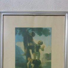 Varios objetos de Arte: LÁMINA DE FRANCISCO DE GOYA. Lote 126965408