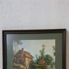 Varios objetos de Arte: CUADRO MUJERES LAVANDO EN RIO. Lote 126969328