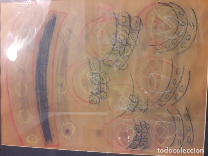 Varios objetos de Arte: Abstracto sobre papel y ceras - Foto 2 - 127749003