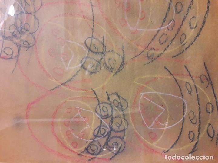Varios objetos de Arte: Abstracto sobre papel y ceras - Foto 3 - 127749003
