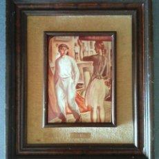 Varios objetos de Arte: CUADRO ESMALTE REPRODUCCIÓN BADILLO PINTURA VASCA. Lote 128379651