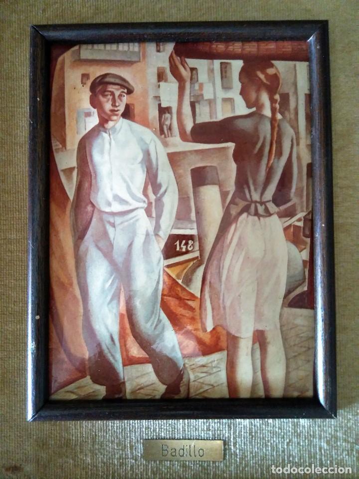 Varios objetos de Arte: Cuadro Esmalte reproducción Badillo pintura Vasca - Foto 2 - 128379651
