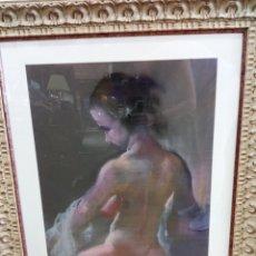 Varios objetos de Arte: MUJER DESNUDA. VARELA GUILLOT. PASTEL.. Lote 128639152