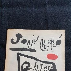 Varios objetos de Arte: JOAN MIRÓ. GALERIA 4 GATS.. Lote 128670291