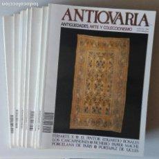 Varios objetos de Arte: LOTE REVISTAS ANTIQVARIA, 11 NÚMEROS, DEL AÑO 1987. Lote 128767007