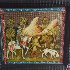Varios objetos de Arte: ESMALTE SOBRE PLANCHA DE PLATA. Lote 128825503