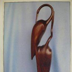 Varios objetos de Arte: JUAN JAÉN. AVES. TALLA EN MADERA. CANARIAS 7.. Lote 130055631